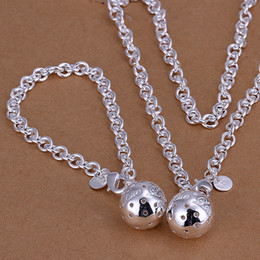 Wholesale - lowest price Christmas gift 925 Sterling Silver Fashion Necklace+Earrings set QS032