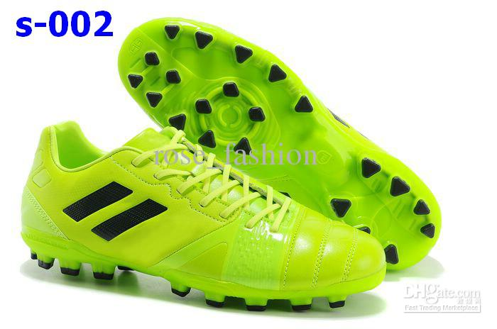 Free Shippment Neon Green Soccer Shoes Men NC 3.0AG Football Boots ...