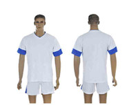 Wholesale 2013 Greece Home White Jersey Short Adults Mens Soccer Kits able custom name number mix order contact me for more