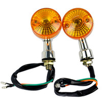 Turn Signals Universal new Chrome Turning Orang Light Universal 2 x Motorcycle Turn Signals Indicators for honda suzuki yamaha kawasaki ducati ktm 125 250 400