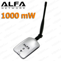 Wholesale High Power Mw Alfa AWUS036H dBi Antenna RTL8187L AA46 USB Wireless Wifi Adapter