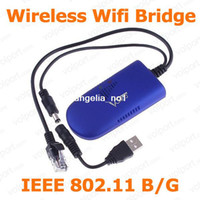 Wholesale Wireless VAP11G Wifi Bridge for Dreambox Xbox PS3 PC Camera TV Wifi Adapter Support Model IEEE B G