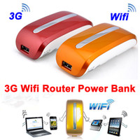Wholesale Mini mAh Wireless Power Bank Battery Charger G WiFi M Router Hotspot AP Orange red