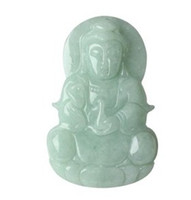 Wholesale medallion Jadeite jade Net bottles of guanyin tuasPeace guanyin pendant send certificate