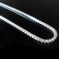 Wholesale Men s jewelry silver box chain necklace inch factory price men s silver jewelry necklace MN19