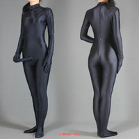 Wholesale Full Body lycra spandex zentai Black costume suit With Penis Price S M L XL XXL