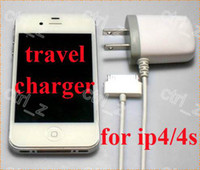 Wholesale AC V DC V A US EU UK Plug Home Travel Direct AC Charger Power Adapter for iphone s gs charger with cable