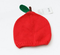 Cotton bernat knitting - NEW kids baby Girl s knitted hat apple knitting Bernat caps children boy Modelling girl hats R81 autumn Z1382