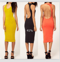 Top fashion 2013 Summer Newest Womens' Backless O- Neck Sleev...