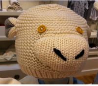Spring / Autumn bernat cotton - NEW kids baby Girl s knitted hat lamb knitting Bernat caps children boy girl hats animal cartoon R85 autumn Z1385