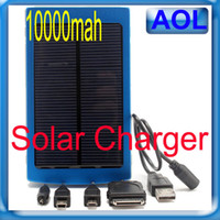 Wholesale High Capacity Solar Battery mAh Solar Mobile Phone Charger Power Bank W Solar Panel For Phone Pad HTC Samsung MP3 MP4