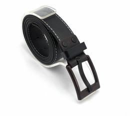 Wholesale 1PCS Korean Mens Black PU Leather Belt Anti allergic Buckle Waistband