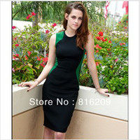 2 Colors Charming Fashion Ladies' Splicing Sliming Bodycon K...