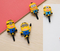 Wholesale Despicable me Anti dust dust Cute cartoon Earphone ear cap mm Stopper cover for Samsung galaxy S3 S4 iphone5 C S
