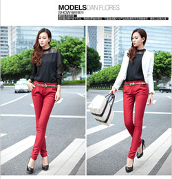 Wholesale LVY Women Korea Trendy OL Temperament Long Slim Pencil Pants