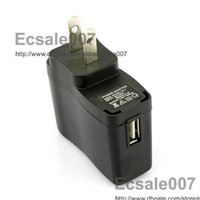 Wholesale Good Quality US Plug USB AC DC Power Supply Wall Charger Adapter MP3 MP4 DV for ipod ipad iphone Charger Black