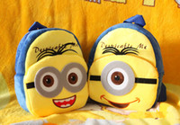 Wholesale Cute Cartoon Despicable Me Minions Backpack Children Boy Girl School Bagpacks Kid Children s Bags Rucksack HK Post Trackable