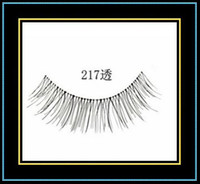 Wholesale Hallowmas Designed Handmade Fake False Eyelashes Eyelash Eye Lashes Natural Look Transparent Pairs Set