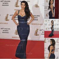 Reference Images Sweetheart Chiffon 2014 Kim Kardashian Celebrity Dresses Sweetheart Floor Length Beads Ruffles Chiffon Mermaid Evening Prom Dresses BO1817