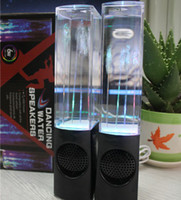 Wholesale Original ATake in1 USB Mini Water Speaker Colorful Water drop Show Sensor with LED Lamp Light Dancing Speaker