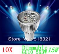 Wholesale 10X High power CREE GU10 x3W W V Dimmable Light lamp Bulb LED Downlight Led Bulb Warm Pure Cool White Energy Saving