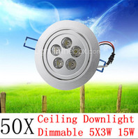 Wholesale 50pcs W Dimmable LED Light Bulb Ceiling downlight LED lamp Recessed Cabinet wall Bulb V V for home living room