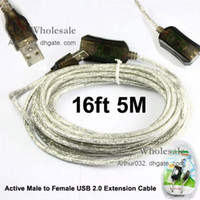 Wholesale Cheap Price ft M Active Male to Female USB Extension Cable for Computer Laptop PC Netbook Notebook Google Android