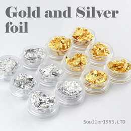 Wholesale New supernova Sale d Nail Art Decorations Gold and Silver Foil For UV Gel amp Acrylic Nail Decoration D107
