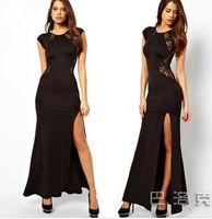 Wholesale Dress slit dress club dress lace dress behind
