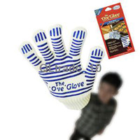 Wholesale New F Heat Proof Flame Resistant Oven Mitt Ove Glove Hot Surface Handler DHL free good quality factory price TV227