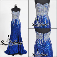 Wholesale 2013 Tony Bowls Sleeveless Beads Strapless Sequins Formal Evening Gowns Party Engagement Long Prom Dresses