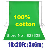 Wholesale NEW x6m x ft Photo Studio Green Muslin Background Backdrop x20 ft Photography Cotton