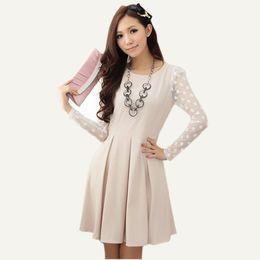Wholesale 2014 new fashion women s clothes dresses Korean slim long