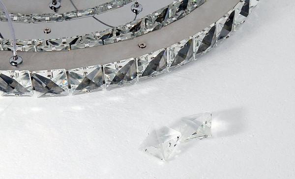 Led lustre lampadario di cristallo moderno di illuminazione sala ...
