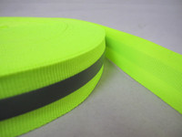 Wholesale 2 cm polyester ribbon cm normal lighting or bright silver reflective film cm fluorescent yellow bright reflective ribbon