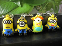 Wholesale Despicable Me Minion Action Figure Keychain Keyring Key Ring Designs Cute Promotion Gifts New Arrival DHL EMS Whoesale