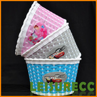 woven basket - 4 Color Inch Children Bicycle Excellent Shellfish Floor Small Hand woven Baskets