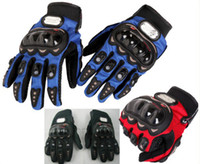 Wholesale Men Motorcycle Bike Bicycle full finger Protective Racing Gloves Size L XL Black Blue Red