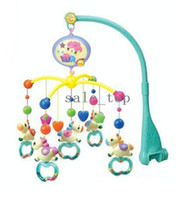 battery operated mobiles - Cute horse baby infant bed bells battery operated rotating music mobile rattles toys with songs