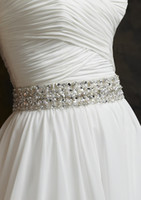 Wholesale 2013 New Beads Pearl Rhinestone Satin Long Wedding Belts Bridal Dress Sashes Wedding Accessories Cheap All Colours Customed