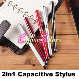 Wholesale New in Capacitive Stylus Touch Writing Ink Pen For Tablet PC iPad IPOD iphone HTC Samsung Galaxy S4 All Cellphone