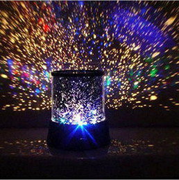 Wholesale Star Night Lamps - Romantic Colourful Cosmos Star Master LED Projector Lamp Night Light Gift NEW