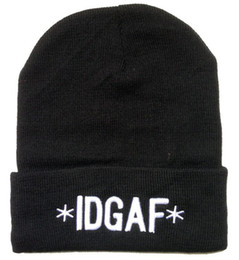 Wholesale IDGAF Beanie Hat I Don t Give A Fuck Beanies Hats Skull Caps Popular Winter Knit Beanies Wool Cap