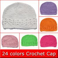 Wholesale 10 Baby Toddler Kufi Crochet Beanie Baby Kufi Hat Kufi Cap Baby Girl s Crochet Beanie