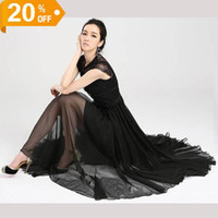 Wholesale Hot Fashion sexy ladies maxi dress women s chiffon dress evening party dress beach dress long dress floor length white dress black dress