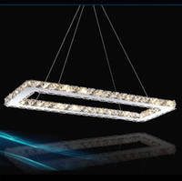 Wholesale Modern K9 Crystal Chandelier Lighting LED Lustre Crystal Pendant Lamp Dining Room Suspension Hanging Light