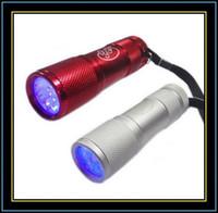 UV Lamp 0.6W LED Flashlight Protable UV Ultra Violet 9 LED Flashlight Blacklight Torch Light lamp UV Nail Lamp