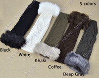 Wholesale 10 pairs new arrival Colors Women winter Arm Warmer Faux Fur wool Fingerless long Gloves Colors
