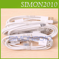 Wholesale Micro USB Data SYNC Cable Adapter Charger Charging ft m For Samsung Galaxy S3 S4 i9500 i9300 Note II N7100 N7000 Black White Color