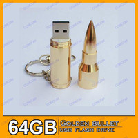 Wholesale New Sample Metal Bullet Shape GB USB Flash Drive Stick Creative U Disk G Flash Memory Pen Drive Key New Hot